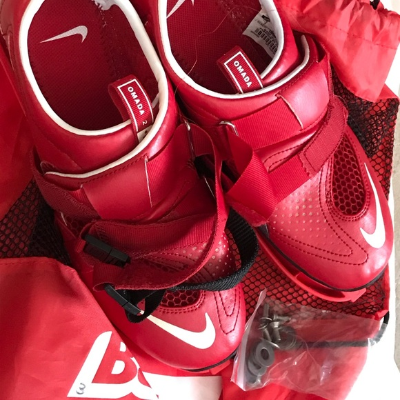 Omada Red Rowing Shoes With Bag Sz